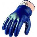 Großhandel Handschuhe: Nitril-Handschuh, blau: Handrücken vollbeschichte