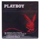 Großhandel Erotik-Accessoires: Playboy Kondome, 3er Pack Rot, Perl im 6er Theken-