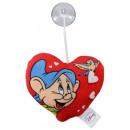 Großhandel Bettwäsche & Decken: Disney Herz Kissen mit Saugnapf, ca. 14 cm, versch