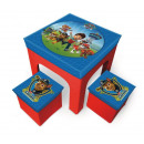 Paw Patrol - Table  and 2 stools storage pouch pleg