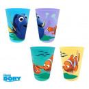 wholesale Drinking Glasses:SET 4 PLASTIC GLASS Nemo