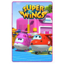 hurtownia Produkty licencyjne: SUPER WINGS - koc  100x150cm polar Super Wings