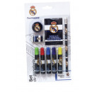 wholesale Small Parts & Accessories: Real Madrid 9  Pieces Stationery Set ( 2/72 )