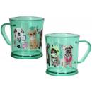 grossiste Tasses & Mugs: tasse en plastique  translucide Animaux Studio ( 2/