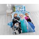 Frozen Team 2 Blue 140 x 200 Blauw