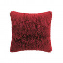 grossiste Coussins & Couvertures:Shaggy Rouge 45 x 45 Red