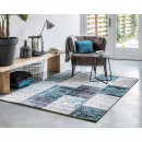 Vloerkleed Retro Anthracite/Blue 133 x 200 Antraci