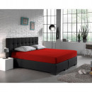 Großhandel Bettwäsche & Matratzen: Spannbettuch  Doppel Jersey 220 gr. Red 80/90 / 100