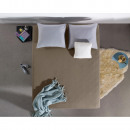 Fitted Sheet Double Jersey 220 gr. Taupe 190/200 x