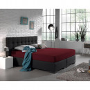 groothandel Home & Living: Hoeslaken Dubbel  Jersey 220 gr. Bordeaux 160/180 x