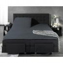 Fitted Sheet Split Topper Jersey Anthracite 160 x