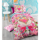 grossiste Maison et habitat: So Cute SWISS  Strawberry multi 160 x 210 multi