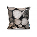 groothandel Home & Living: Wood Pile Dark Taupe 45 x 45 Taupe