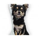grossiste Coussins & Couvertures: Longhaired  Chihuahua Noir 25 x 25 Noir
