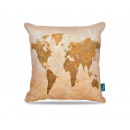 Worldmap Taupe 45 x 45 Taupe