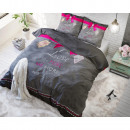 wholesale Bedlinen & Mattresses: More Love 200 x  220 Anthracite Anthracite