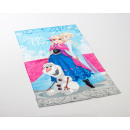Frozen Anna and Elsa 70 x 140 Blauw