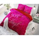 Großhandel Bettwäsche & Matratzen: Liebe und Hoffnung Rosa 240 x 220 Rosa