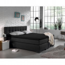 Jersey Topper Fitted Sheet Black 190/200 x 200/220