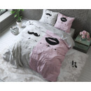 groothandel Home & Living: Mr and Mrs 2 Pink 240 x 220 Roze
