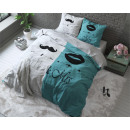 groothandel Bedtextiel & matrassen: Mr and Mrs 2  Turquoise 140 x 220 Turquoise
