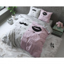 groothandel Home & Living: Mr and Mrs 2 Pink 135 x 200 Roze