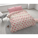 groothandel Bedtextiel & matrassen: I Love Hearts Pink 240 x 220 Roze