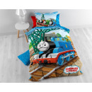 Tommy the Train Blue 140 x 200 Blue