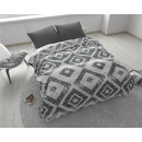 wholesale Bedlinen & Mattresses: Block on Block Gray 200 x 200 Gray