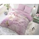 Großhandel Bettwäsche & Matratzen: Blossom 2 Lila Lila 200 x 200