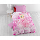 grossiste Articles sous Licence: Belle Princesse Rose 160 x 200 Rose