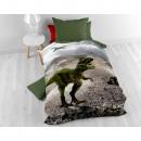 Großhandel Bettwäsche & Matratzen: Dinosaurier Grün 135 x 200 Grün