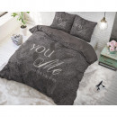 groothandel Home & Living: Love for you and  me Anthracite 200 x 220 Antraciet