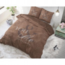 groothandel Bedtextiel & matrassen: Love for you and  me Taupe 200 x 220 Taupe