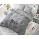 groothandel Home & Living: Strictly in Love Grey 135 x 200 Grijs