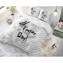 groothandel Home & Living: Today is the Day White 140 x 220 Wit