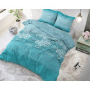 groothandel Home & Living: Comfort Night  Turquoise 140 x 220 Turquoise