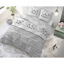 wholesale Bedlinen & Mattresses: Stars and Stars Gray 140 x 220 Gray