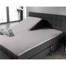 Fitted Sheet Split Topper coton Gray 200 x 220 Gra