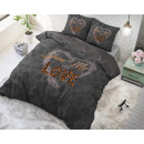 groothandel Home & Living: Show me Love Anthracite 140 x 220 Antraciet