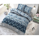groothandel Home & Living: Shibori Retro Blue 140 x 220 Blauw