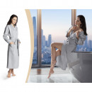groothandel Kleding & Fashion: Badjas Waffle Grey Medium Grijs