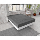 Fitted Sheet flannel 150g. Anthracite 90 x 200/210