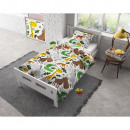 groothandel Home & Living: Flanel Small Zoo White 140 x 200 Wit