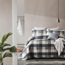 Bedspread Luxury Check Gray 260 x 250 Gray