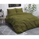 Stone Washed Linen Green 140 x 220 Green