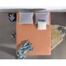 Fitted SheetJersey 135 gr. Pastel Orange 160/180 x
