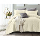 Bedspread Chrone Cream 260 x 250 Creme