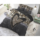 Panther Love Heart Brown 140 x 220 cm Brown