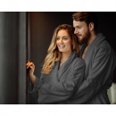 wholesale Bath & Towelling: Bathrobe Soft Terry Anthracite S / M Anthracite